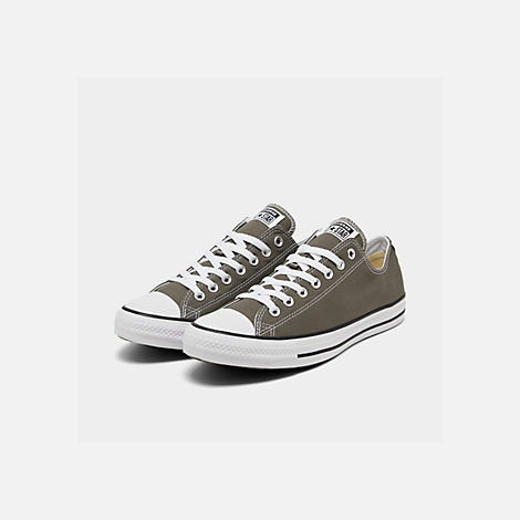 Three Quarter view of Men's Converse Chuck Taylor Low Top Casual Shoes in Charcoal