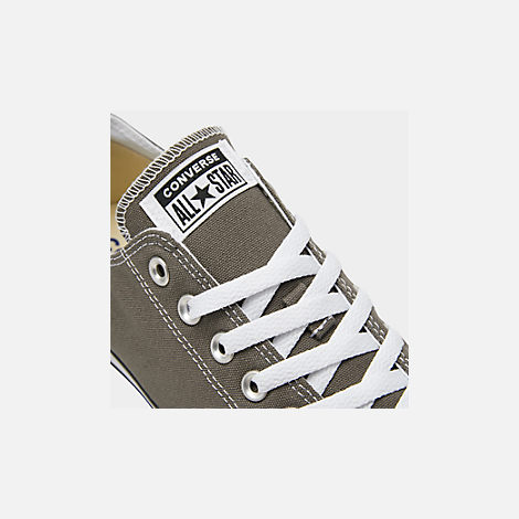 Front view of Unisex Converse Chuck Taylor Low Top Casual Shoes in Charcoal