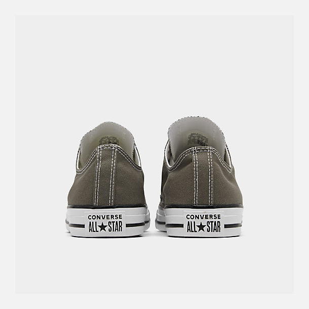Left view of Unisex Converse Chuck Taylor Low Top Casual Shoes in Charcoal