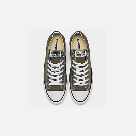 Back view of Men's Converse Chuck Taylor Low Top Casual Shoes in Charcoal