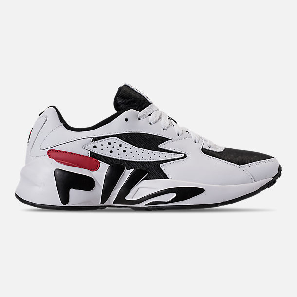 Right view of Men's Fila Mindblower Casual Shoes in White/Black/Red