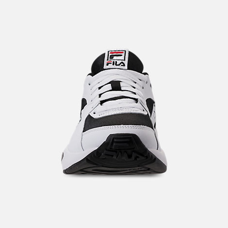 Front view of Men's Fila Mindblower Casual Shoes in White/Black/Red