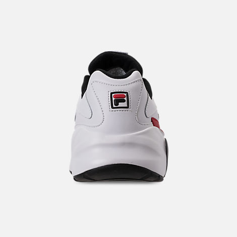 Back view of Men's Fila Mindblower Casual Shoes in White/Black/Red