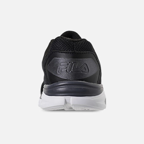 Back view of Men's Fila Memory Countdown 5 Running Shoes in Black/Castlerock Grey/White