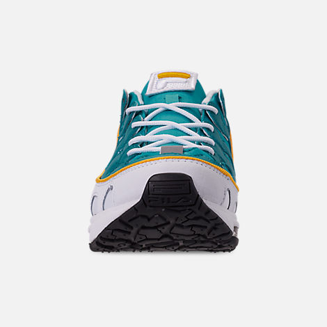 13123ecf08d6 Front view of Men s Fila Silva Trainer Running Shoes in White Teal Yellow