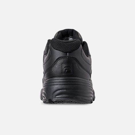 Back view of Men's Fila Memory Workshift Slip Resistant Casual Shoes in Triple Black