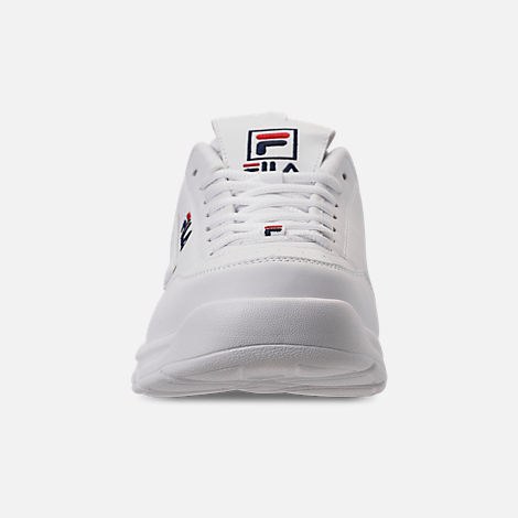 Front view of Men's Fila Disruptor SE Casual Shoes in White/Footwear Navy/Red