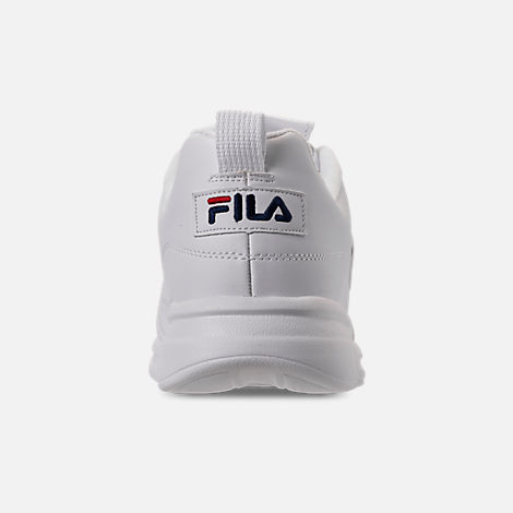 Back view of Men's Fila Disruptor SE Casual Shoes in White/Footwear Navy/Red