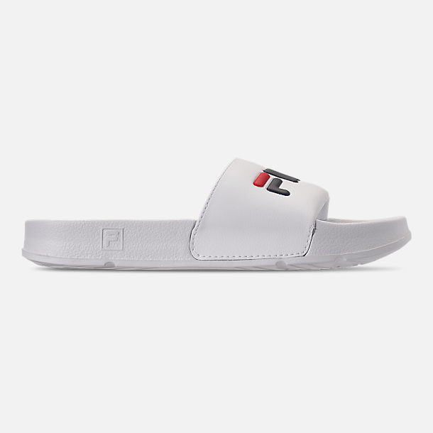 3781cdf804e82d Right view of Men s Fila Drifter Slide Sandals in White Navy Red