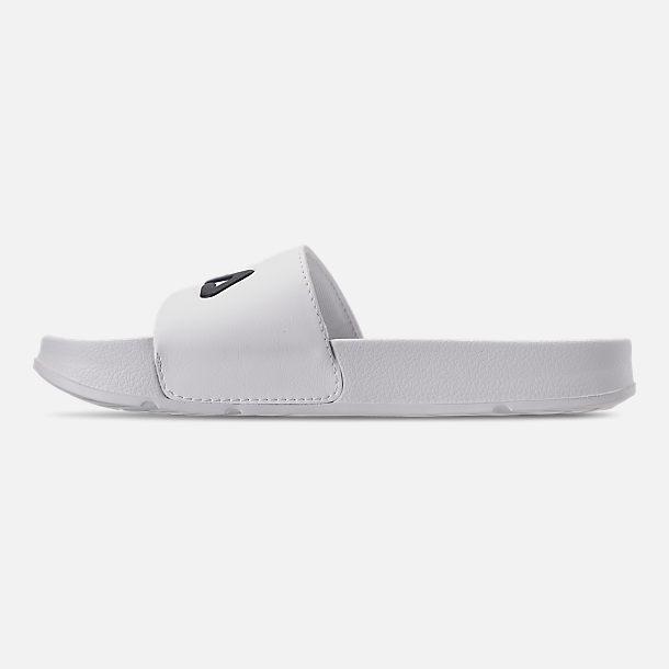 7199d47d0804 Left view of Men s Fila Drifter Slide Sandals in White Navy Red