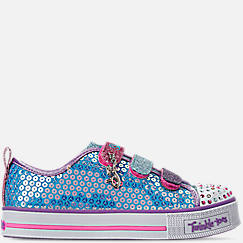 Girls' Little Kids' Skechers Twinkle Toes: Twinkle Lite - Mermaid Magic Light-Up Hook-and-Loop Casual Shoes