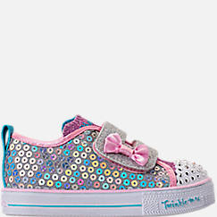 Girls' Toddler Skechers Twinkle Toes: Shuffle Lite - Mini Mermaid Light-Up Hook-and-Loop Casual Shoes