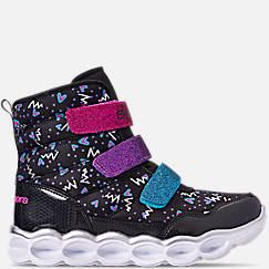 Girls' Little Kids' Skechers Twinkle Toes: Lumi Luxe Hook-and-Loop Casual Sneakers