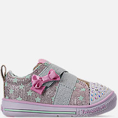 Girls' Toddler Skechers Twinkle Toes: Twinkle Play - Sparkle Shines Light Up Hook-and-Loop Casual Shoes
