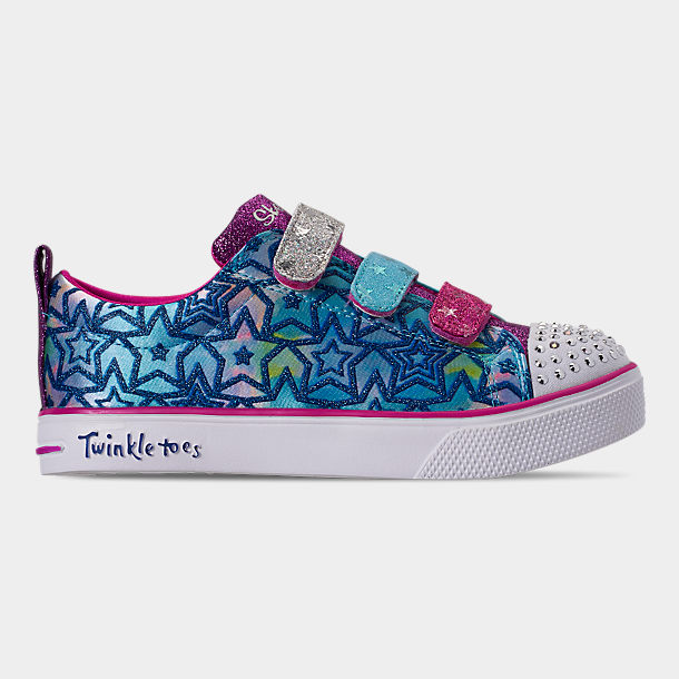 Skechers Twinkle Toes Twinkle Breeze 2.0 Sparkle Dust Girls' Light Up Shoes