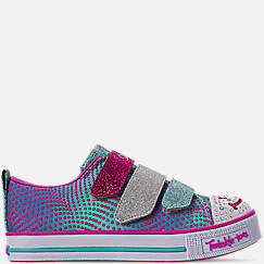 Girls' Little Kids' Skechers Twinkle Toes: Twinkle Lite - Shiny Smilez Light Up Hook-and-Loop Casual Shoes