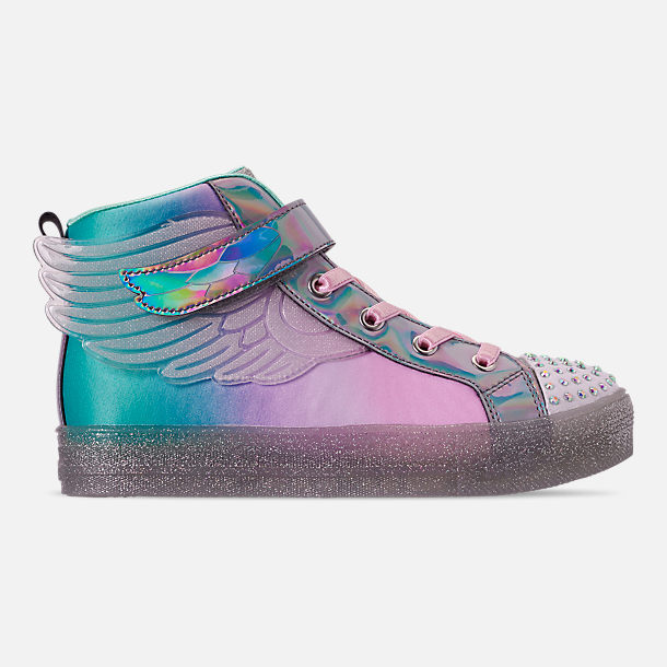 7b59dd9e79d0e Girls' Little Kids' Skechers Twinkle Toes: Shuffle Brights - Sparkle Wings  Light Up High Top Casual Shoes