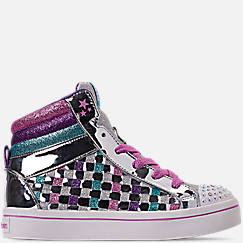 Girls' Little Kids' Skechers Twinkle Toes: Twi-Lights - Sparkle Status Light Up High Top Casual Shoes