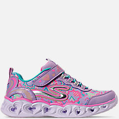 Girls' Little Kids' Skechers S Lights: Heart Lights Stay-Put Closure Slip-On Casual Shoes