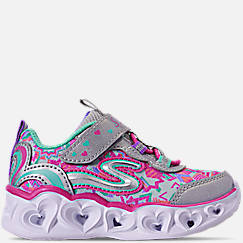 Girls' Toddler Kids' Skechers S Lights: Heart Lights Stay-Put Closure Slip-On Casual Shoes