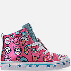 Girls' Little Kids' Skechers Twinkle Toes: Twi-Lights - Character Sweets Light Up High Top Casual Shoes