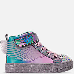 Girls' Toddler Skechers Twinkle Toes: Shuffle Lite - Lil Sparkle Wings Light-Up Casual Shoes