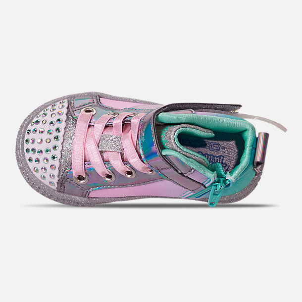 2effb7054ae15 Girls' Toddler Skechers Twinkle Toes: Shuffle Lite - Lil Sparkle Wings  Light-Up Casual Shoes
