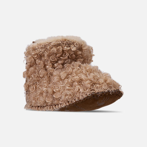Three Quarter view of Girls' Infant Bearpaw Kaylee Boots in Taupe