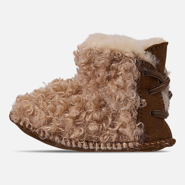 Left view of Girls' Infant Bearpaw Kaylee Boots in Taupe