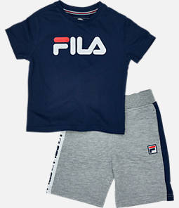 Boys' Toddler Fila Classic Logo Short Set