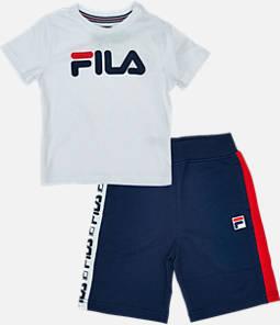 8b0e0b86db6f Boys  Toddler Fila Classic Logo Short Set
