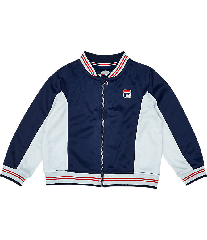 Back view of Boys' Toddler Fila Classic Track Set in Navy/White