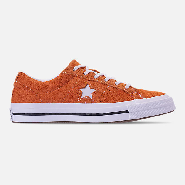 Right view of Boys' Grade School Converse One Star Casual Shoes in Bold Mandarin/Black/White