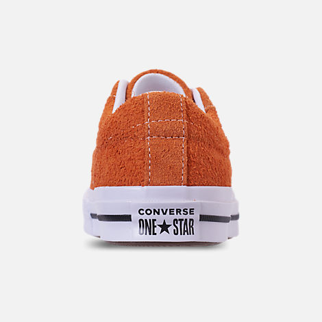 Back view of Boys' Grade School Converse One Star Casual Shoes in Bold Mandarin/Black/White