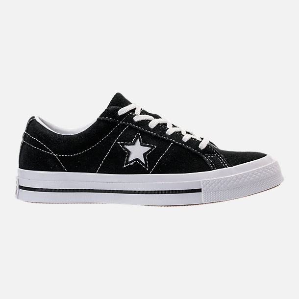 Right view of Boys' Big Kids' Converse One Star Casual Shoes in Black