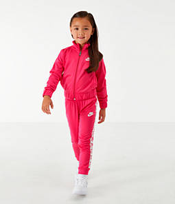 Girls' Toddler Nike Taping Tricot Track Jacket and Pants Set