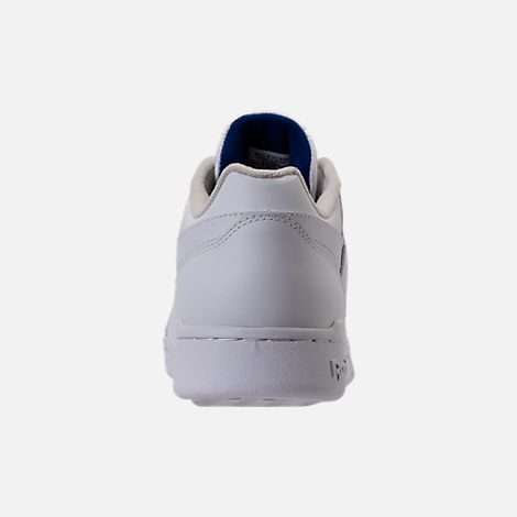 Back view of Men's Reebok Workout Plus Casual Shoes in White/Royal