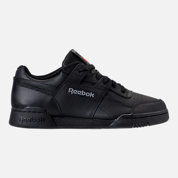 Right view of Men's Reebok Workout Plus Casual Shoes in Black/Charcoal