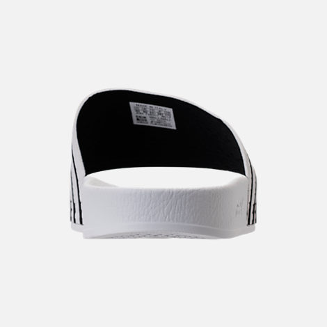 Back view of Men's adidas Adilette Slide Sandals in White/Core Black