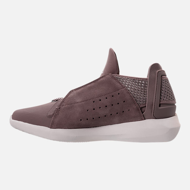 Left view of Men's BrandBlack Gambetto Off-Court Shoes in Mauve