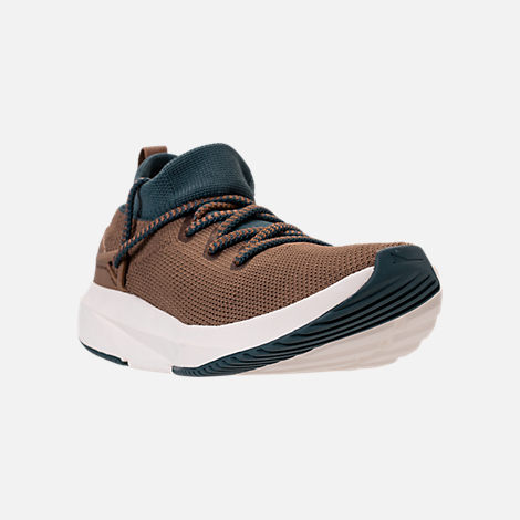 Three Quarter view of Men's BrandBlack Kaze Runner Casual Shoes in Brown/Blue/Cream