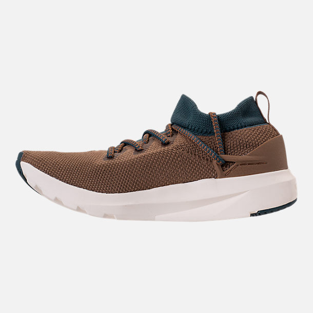 Left view of Men's BrandBlack Kaze Runner Casual Shoes in Brown/Blue/Cream
