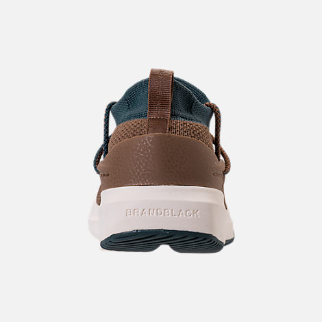 Back view of Men's BrandBlack Kaze Runner Casual Shoes in Brown/Blue/Cream