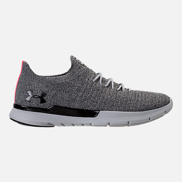 Right view of Men's Under Armour Slingwrap Phase Running Shoes in Black/Overcast Grey/Black