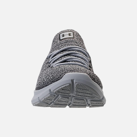 Front view of Men's Under Armour Slingwrap Phase Running Shoes in Black/Overcast Grey/Black