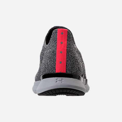 Back view of Men's Under Armour Slingwrap Phase Running Shoes in Black/Overcast Grey/Black