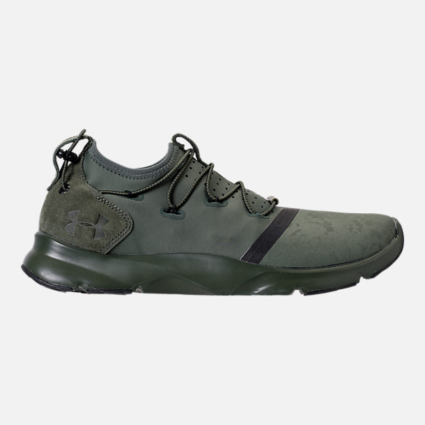 Right view of Men's Under Armour Cinch x NM1 Running Shoes in Downtown Green/Glacier Grey