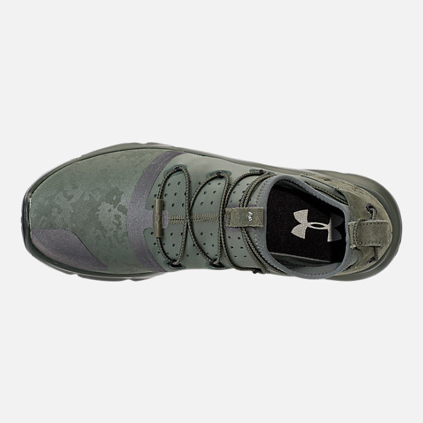 Top view of Men's Under Armour Cinch x NM1 Running Shoes in Downtown Green/Glacier Grey