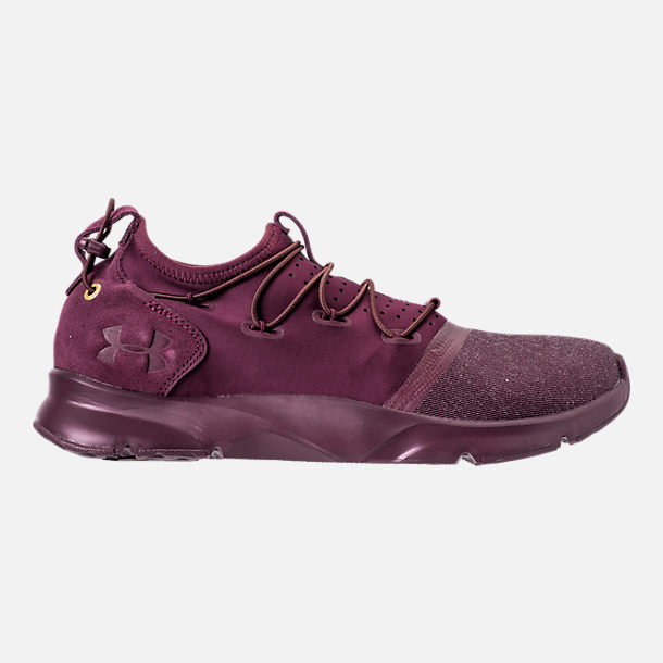 Right view of Men's Under Armour Cinch x NM3 Running Shoes in Maroon
