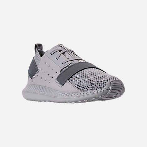 Three Quarter view of Boys' Grade School Under Armour Threadborne Shift Casual Shoes in Aluminum/Grey/Aluminum